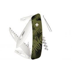 Swiza TT05 Tick Tool Olive Fern, Swiss army knife made in Swiss