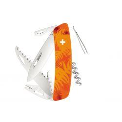 Swiza TT05 Tick Tool Orange Fern, Swiss army knife made in Swiss