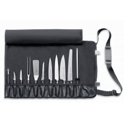 Roll-up chef bag with 11 compartments (empty), Chef knife case