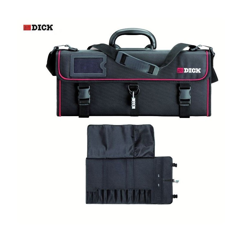 Dick roll-up chef bag with 11 slots (empty), Chef knife case