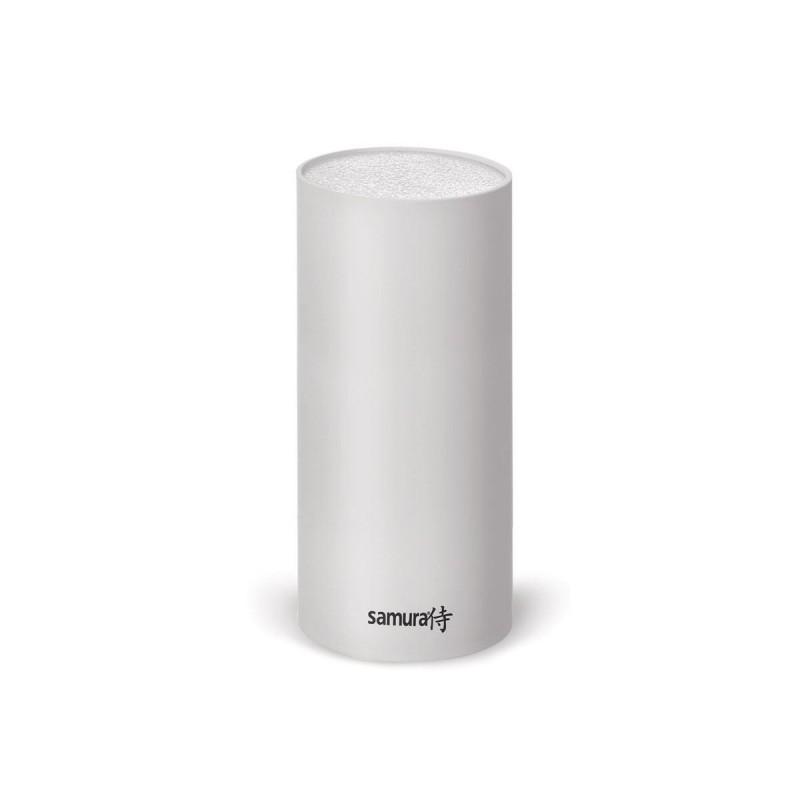 Messerblock, rundes Design, Marke Samura, Weiß 22,5 cm