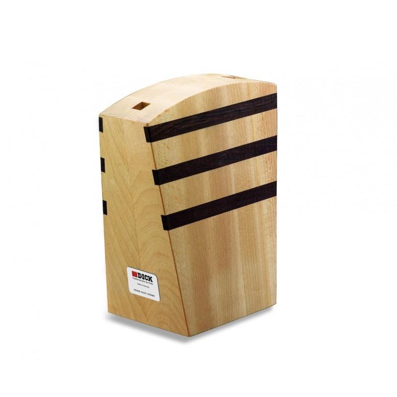 Ceppo coltelli design manetico in legno Dick, ceppo vuoto