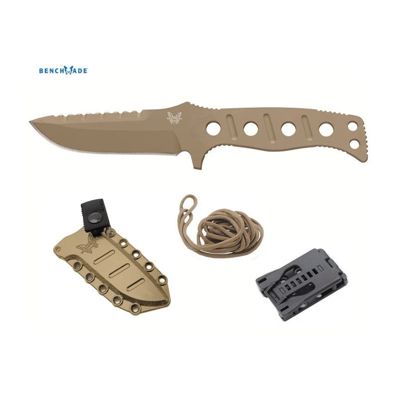 Coltello tattico Benchmade Adamas 375 Fixed Blade Sand (Sabbia)