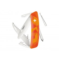 Schweizer Messer, Swiza J06 Junior Urban Orange, mit 12 Funktionen Multicolor, Made in Swiss.