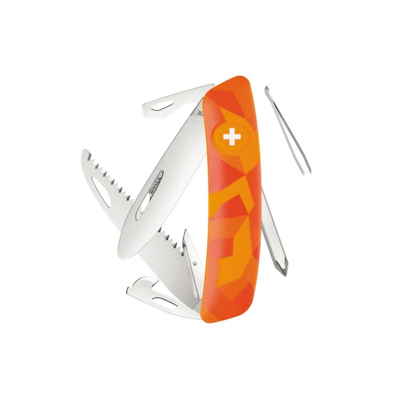 Coltellino multiuso Swiza J06 Junior Urban Orange, Coltellino svizzero