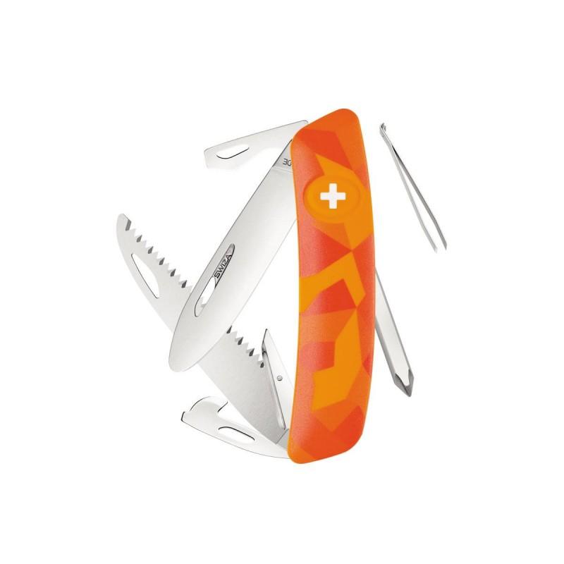 Schweizer Messer, Swiza J06 Junior Urban Orange, mit 12 Funktionen Multicolor, Made in Swiss.