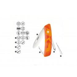 Schweizer Messer, Swiza J02 Junior Urban Orange, mit 6 Funktionen, Made in Swiss.