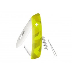 Swiza C01 multitool Camouflageurban  moss knife, Swiss army knife with 6 functions, multicolor , Made in Swiss.