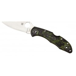 Spyderco Delica Zome camouflage Tactical knife, Military folding knives.