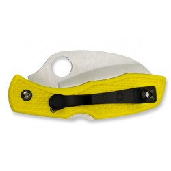 Spyderco Tasman Salt Yellow 106SYL, Diving knife, Smooth blade, Folding diving knives, diving knife.