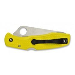 Spyderco Pacific Salt Yellow C91SYL, Tauchmesser, gezackte Klinge, Klapptauchmesser.