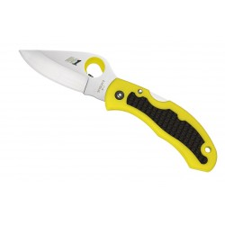 Spyderco Snap-it Salt Yellow PLN C26PYL, Diving knife, smooth blade, Folding diving knives, diving knife.
