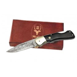 Coltello da collezione Bx-8 Folding in acciaio damascato, (collection knives).