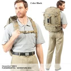 Maxpedition Militärrucksack, Fliegerduffel Adventure Bag schwarze Farbe