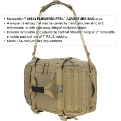 Maxpedition Military Backpack Fliegerduffel Adventure Bag Khaki, Military Tactical Bag made in U.s.a.