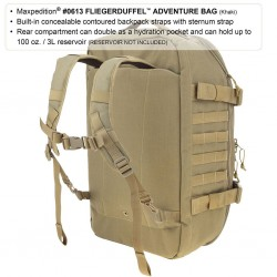 Maxpedition Militärrucksack, Fliegerduffel Adventure Bag Khaki.