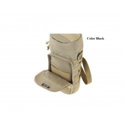 """Maxpedition Military Bag, Bottle holder 10 """"x4"""" black, Military Tactical Bag made in U.s.a."""