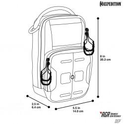 Maxpedition Militärtasche, Dep Daily Essentials-Tasche Grau, Military Tactical-Tasche aus den USA.