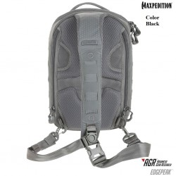 Maxpedition Edgepeak ™ Military Backpack Ambidextrous Sling Pack 15L Black, Military Tactical Backpack made in U.s.a.