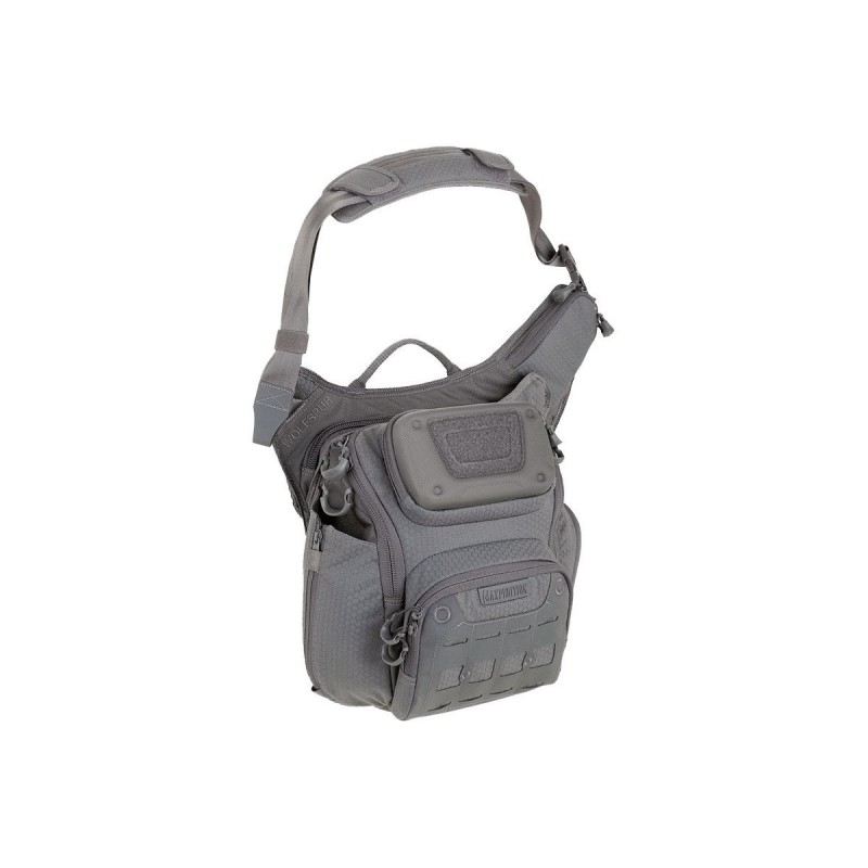 Maxpedition military bag, Wolfspur crossbody shoulder bag Color Gray, Military Tactical bag made in U.s.a.