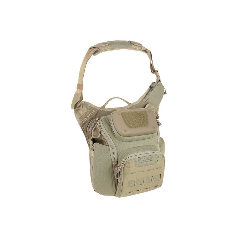 Maxpedition military bag, Wolfspur crossbody shoulder bag Color Tan, Military Tactical bag made in U.s.a.