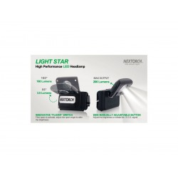 Torcia da testa Nextorch Headlamp Light Star 200 Lumens, (Led flashlight).