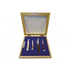 Set mit 4 Messern zum 100-jährigen Jubiläum Buck. limitierte Auflage, beschränkte Auflage