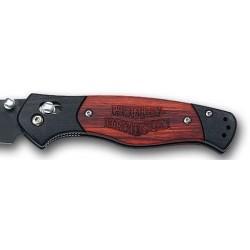 Coltello militare Harley Davidson Hd Backroad filo combinato Black, (pocket knife).