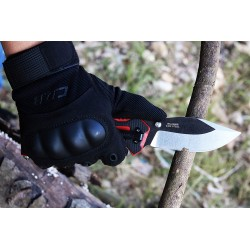 Witharmour Rescuer Black/red knife, emergency knives.