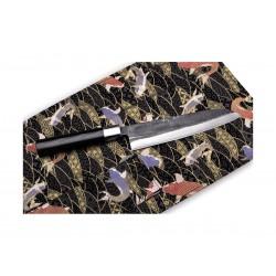 Coltello da cucina Samura Super 5, coltello Santoku Cm 18,2