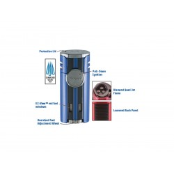 Cigarette lighter HP4 quad Blue, Xikar