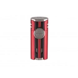 Cigarette lighter HP4 quad Daytona Red, Xikar
