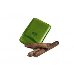 Leder-Zigarrenetui für 3 toskanische Zigarren Grüne Farbe, Jemar (Leder-Zigarrenetui)
