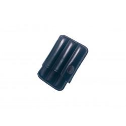 Fluted cigar holder, in Blue leather, Jemar cigar holder (leather)