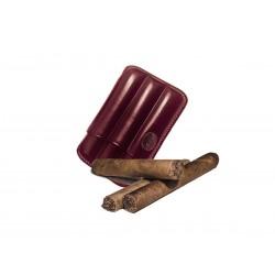 Toskanische Zigarrenschachtel aus Auberginenleder, Jemar-Zigarrenschachtel (Leder)