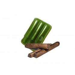 Toskanische Zigarrenetui aus grünem Leder, Jemar-Zigarrenetui (Leder)