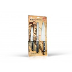 Samura Harakiri set 3 pz (cooking knife- fillet knife - bread and frozen knife)
