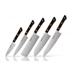 Set of 5 pieces Samura Harakiri knives (vegetable knife, chef's knife, thread knife, santoku knife, nakiri)