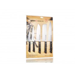 Set of 5 pieces Samura Harakiri knives (vegetable knife, chef's knife, thread knife, santoku knife, nakiri)