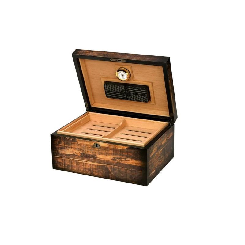 Umidificatore per sigari Quality Importers adirondack per100 sigari, Humidor da tavolo in legno