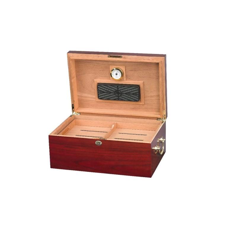 Umidificatore per sigari Quality Importers Tuscany per 100-120 sigari, Humidor da tavolo in legno