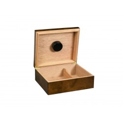 Quality Importers rawhide cigar Humidor for 25 - 50 cigars, wooden table Humidor