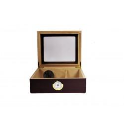 Humidor für Zigarren Quality Importers in Mahagoniholz für 25 - 50 Zigarren Humidor für zu Hause