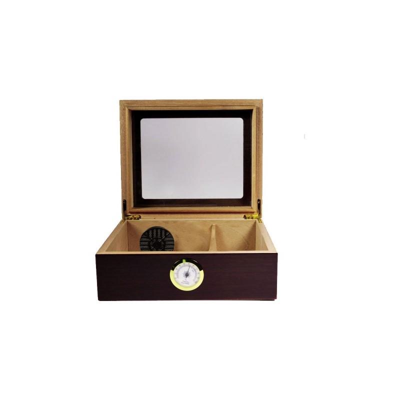 Umidificatore per sigari Quality Importers mahoganyper 25 - 50 sigari, Humidor da tavolo in legno