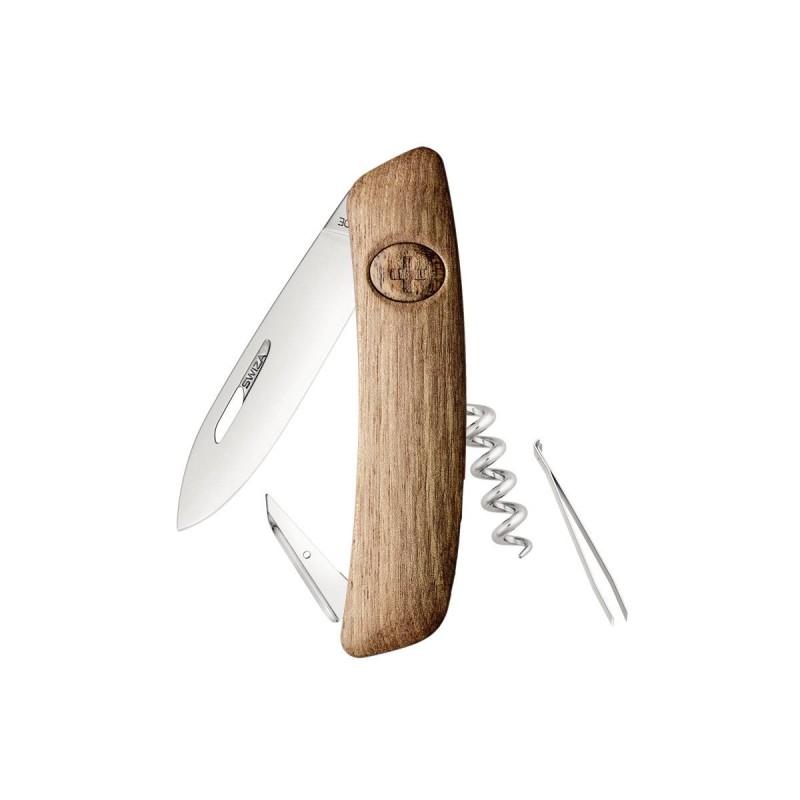 Swiss knife Swiza D01 walnut wood