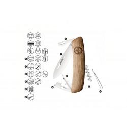 Swiss knife Swiza D03 walnut wood