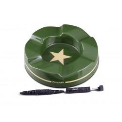 Xikar Geschenkset, militärischer Zigarrenaschenbecher mit Xikar Tactical Pen