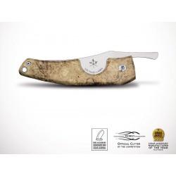Les Fines Lames Le Petit Acacia Burl Wood Cigar Cutter