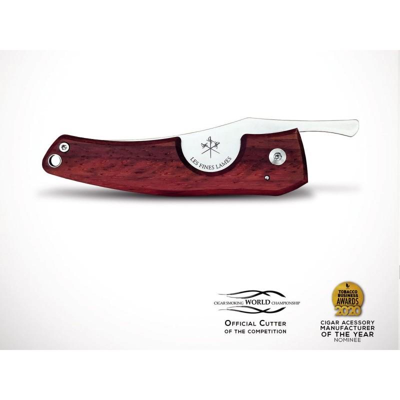 Les Fines Lames Le Petit Padouk Wood Cigar Cutter