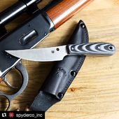 Spyderco Bow River in sale on KnifePark.com  #Repost @spyderco_inc ・・・ The Bow River is our latest collaboration with custom knifemaker Phil Wilson. Check out the Designer Spotlight video just released on our YouTube channel to get unique insights into his design process. Link in bio.☝️#spyderco #spydercoknives #bowriver #philwilson #fixedbladefriday